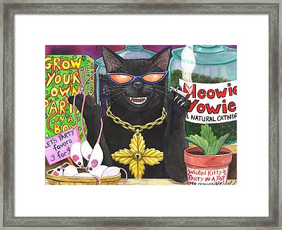 Get Your Nip On Framed Print by Catherine G McElroy
