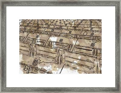 Get Your Seat Framed Print by Alice Gipson