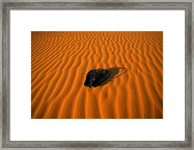 Get Your Thongs Off Framed Print by Shari Mattox