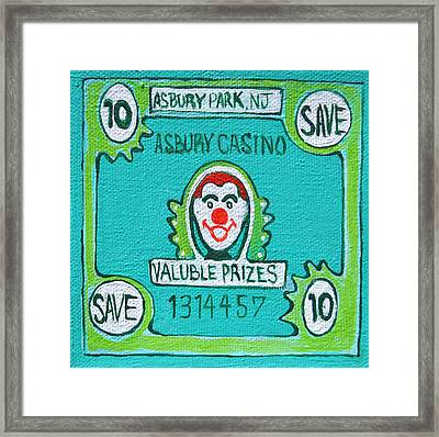 Get Your Ticket Framed Print by Patricia Arroyo