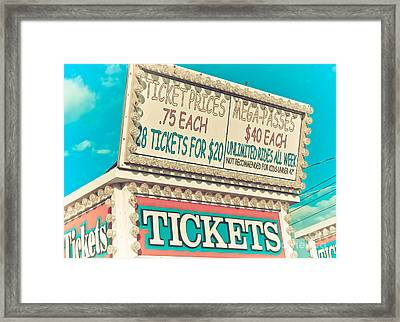 Get Your Tickets Framed Print by Colleen Kammerer