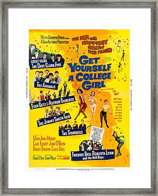 Get Yourself A College Girl, Us Poster Framed Print by Everett