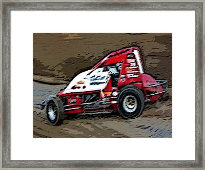 Gettin' With It In The Dirt Framed Print