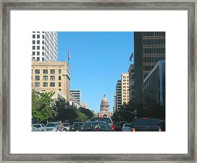 Getting Around In Austin Texas Framed Print by Connie Fox