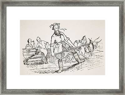 Getting Back To The Land, Illustration Framed Print by Pont