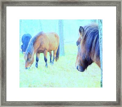 You Want To Be With Your Friends When It's Getting Colder Framed Print by Hilde Widerberg