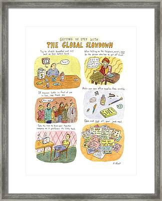 Getting In Step With The Global Slowdown Framed Print