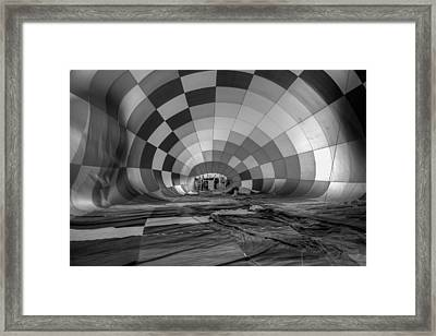 Getting Inflated-bw Framed Print