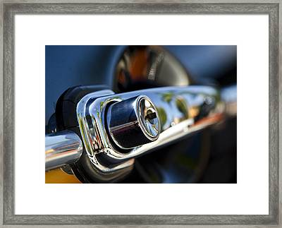 Getting Into Trouble - Classic Porsche Door Handle By Sharon Cummings Framed Print