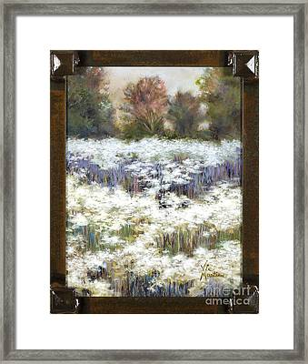 Getting Lost With Frame And Gold Leaf By Vic Mastis Framed Print