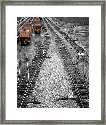 Getting On The Right Track Framed Print