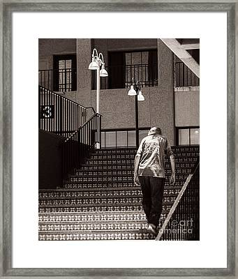 Getting Out Of The Hot Sun Framed Print by Royce Howland