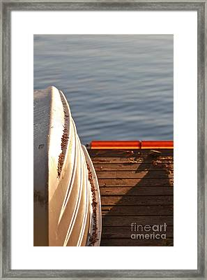 Getting Ready For Winter. Framed Print by Tracey Levine