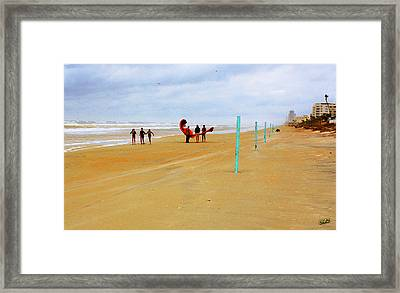 Getting Ready To 'fly' Framed Print