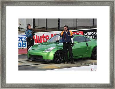 Getting Ready To Race Framed Print
