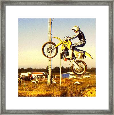 Getting Some Air Framed Print by Guy Pettingell
