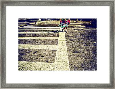 Getting Somewhere Framed Print by Karol Livote
