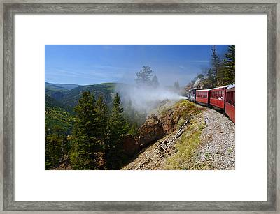 Getting Steamed Framed Print by Jeremy Rhoades
