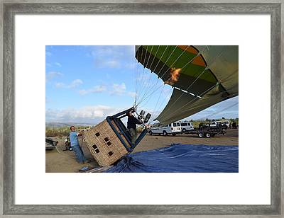 Getting Upright Framed Print