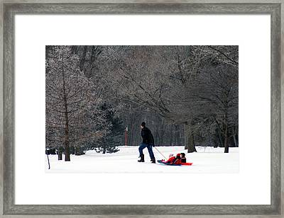 Framed Print featuring the photograph Getty-up Daddy by Kay Novy