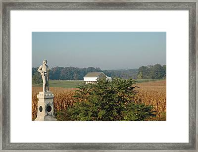 Gettysburg 14th Brooklyn Regiment Monument Framed Print by Bruce Gourley