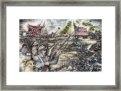 Gettysburg Ash's At The Angle Framed Print