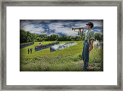 Gettysburg Battle Hymn - The Civil War  Framed Print by Lee Dos Santos