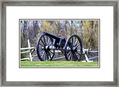 Gettysburg Battlefield Cannon Framed Print by Patti Whitten