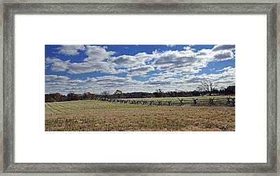 Gettysburg Battlefield - Pennsylvania Framed Print