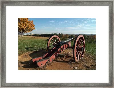 Gettysburg Cannon Framed Print