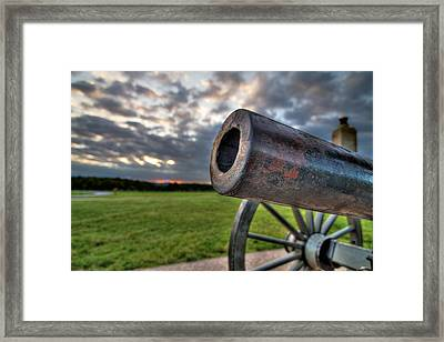 Gettysburg Canon Closeup Framed Print by Andres Leon