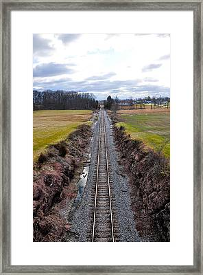 Gettysburg Deep Railroad Cut Framed Print by Bill Cannon