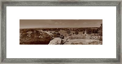 Framed Print featuring the photograph Gettysburg From Little Round Top by Nigel Fletcher-Jones