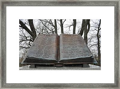 Gettysburg High Water Mark Monument Framed Print by Bruce Gourley