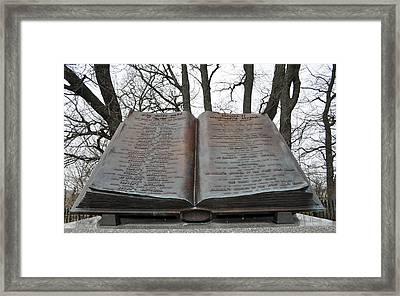 Gettysburg High Water Mark Monument Framed Print
