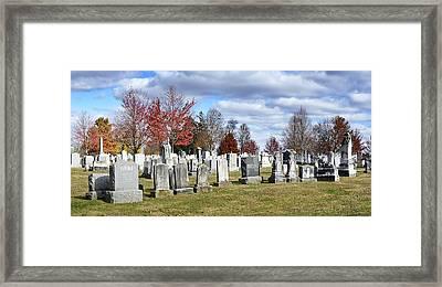 Gettysburg National Cemetery Framed Print by Brendan Reals