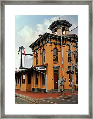 Gettysburg Railroad Station Framed Print by Stephen Stookey