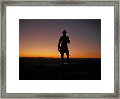 Framed Print featuring the photograph Gettysburg Sunset by Ed Sweeney
