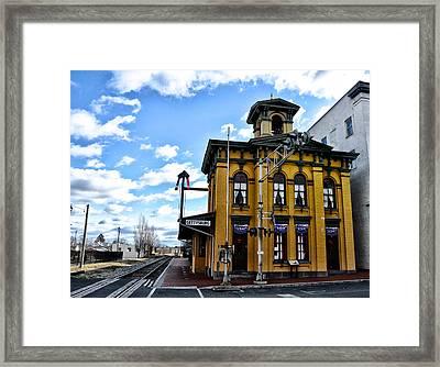 Gettysburg Train Station Framed Print