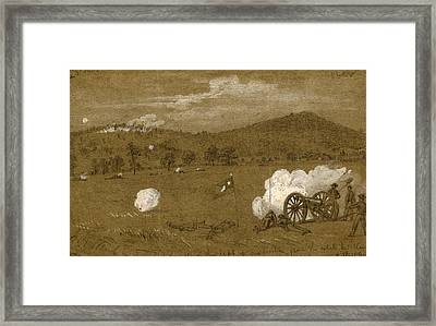 Gettysburg. View Of The Hills On The Left Of Our Position Framed Print by Quint Lox