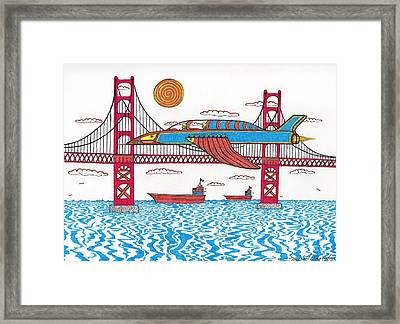 G.g. Fly By Framed Print by Michael Friend