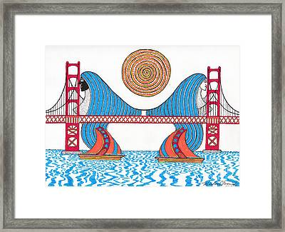 G.g. Hair Waves Framed Print by Michael Friend
