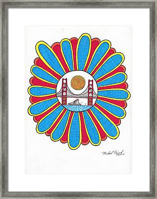 G.g. In Center Of Flower Framed Print by Michael Friend