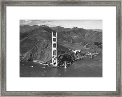 Ggb Tower Under Construction Framed Print