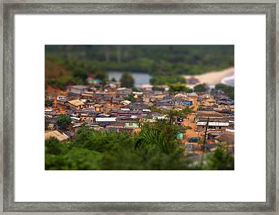 Ghanaian Village Framed Print