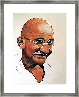 Ghandi Framed Print by Victor Carrington