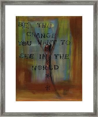 Ghandi's Inspiration Framed Print