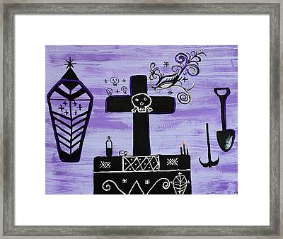 Ghede Framed Print by Dayila Divine