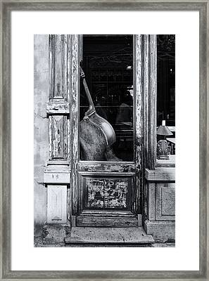 Ghent Cello Framed Print by Lauri Novak