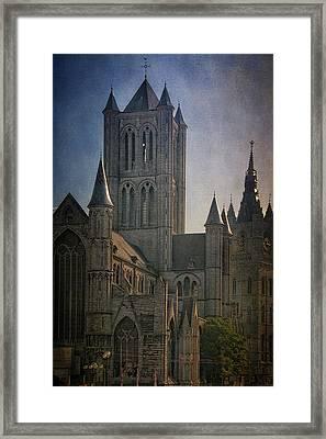 Ghent Skyline Framed Print by Joan Carroll